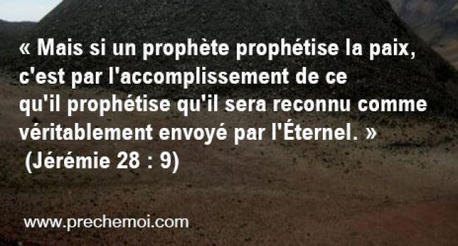 Comprendre le langage prophétique