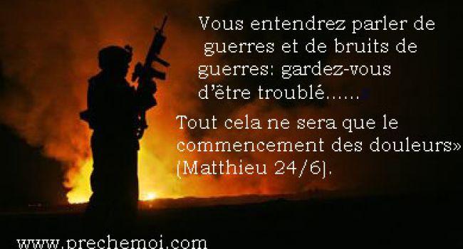 Guerres et bruits de guerre...Terrorisme!