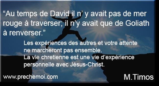 Expérience personnelle avec JESUS