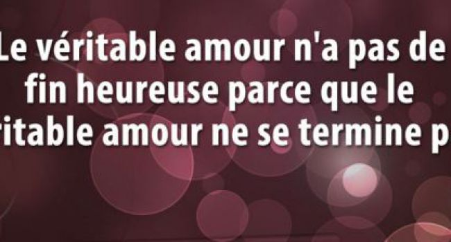 Le veritable amour